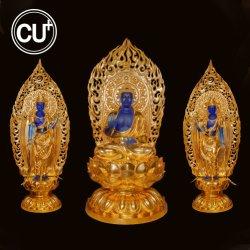 ブロンズ彫刻の実物大の仏教の彫像の屋外の装飾デザイン