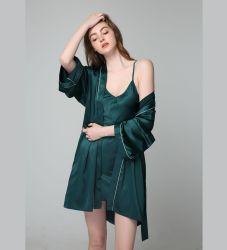 Sexy летом Женское нижнее бельё нижнее белье атласный халат одежды для женщин