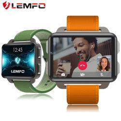 Lemfo Lem4PROの人間の特徴をもつスマートな腕時計の電話1GB 16GB 1200 mAh電池130WのカメラGPS WiFi SIMのカードMP4 3G Smartwatch