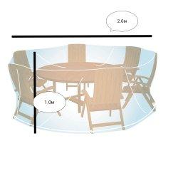 1m 1.5m 2m 2.5m 3m Durchmesser-Tisch Stuhl-Schutzabdeckung PET transparente Schutzkappe