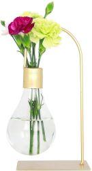 현대적인 금금속 잎사귀들 스탠드 유리 플라워 플라워 플래이터 냄비 집, 웨딩, 거실, 사무실 장식