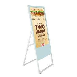 Faltbarer LCD-beweglicher Plakat LCD-Bildschirm-Digitalsignage-Spieler