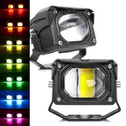 12V 24 Volt APP Control RGB Farbe Auto Front Stoßfänger Projektor LED Arbeitsscheinwerfer, Motorrad ATV UTV RGB 12V LED Fahren Arbeitsscheinwerfer