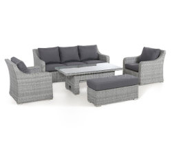 3 Сиденье диван ресторанов - с ростом в таблице и атмосферным воздействиям подушечки