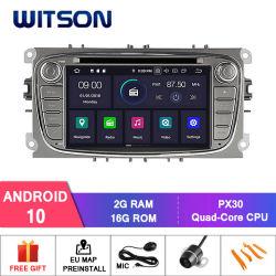 Witson Android 10 Radio DVD de voiture GPS pour Ford Mondeo (2007-2013) /Focus (2008-2011) dans le module WiFi intégré