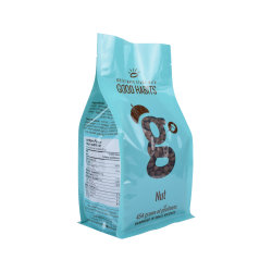 Imballaggio per alimenti di alluminio del di Ziolock del sacchetto di plastica biodegradabile su ordinazione della parte inferiore piana