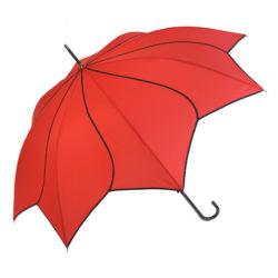 Ombrello diritto a forma di del fiore speciale rosso per la signora Yz-20-29