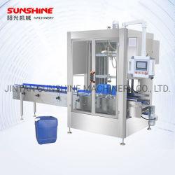 Tipo de pesaje de funcionamiento automático 4-50kg 200L gran tambor de lubricación de barril de aceite comestible de alcohol metílico máquina de envasado de productos químicos