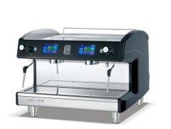 Macchina da caffè espresso ad alte prestazioni K302t acciaio inox Design schermo a sfioramento 2 Gruppo testa. 2 lancia a vapore 1 macchina per caffè