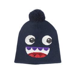 Мультфильм Cute дизайном теплой натуральной шерсти с Beanie трикотажные Red Hat