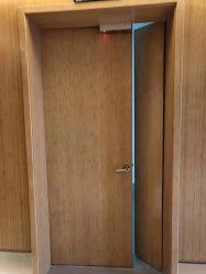 El interior de hoja de doble hoja única de PVC de madera dura Hotel Edificio comercial fuego de madera maciza puerta cortafuego ras