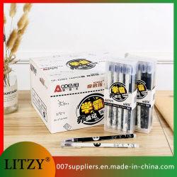 Commerce de gros noir / blanc stylo effaçable 0.38mm gomme d'encre gel effaçable stylo bleu / noir pour l'École d'encre Stationery Supply