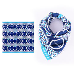 Op maat bedrukte zijde sjaals Lady Silk Square Company Logo sjaal