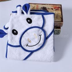 منشفة ناعمة من قماش تيري للأطفال حيوانات تنجر بطانية دافئة مع رأس