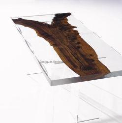Live Edge Haut de table en bois massif en noyer/ Bois naturel table / console Table/ Butcher comptoirs de cuisine de bloc / /Tableau de la rivière de résine époxy