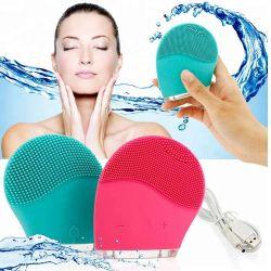 فرشاة تنظيف الوجه الكهربائية بالموجات فوق الصوتية، منظف الوجه المصغر، الاهتزاز الصوتي