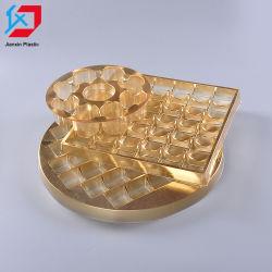 Custom Gold ПЛАСТМАССОВЫХ ПЭТ конфеты лоток для шоколада упаковки