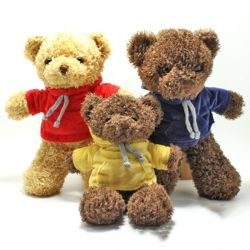 프로모션 선물 부드러운 플러쉬 테디 베어 토이 박제 토이 다채로운 직물 테디 어린이 곰