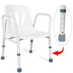 Douche réglable Président médical Baignoire Salle de bain antidérapant chaise avec dos et les bras