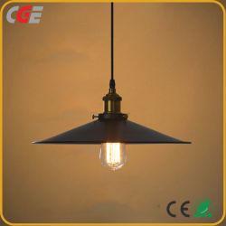 Il pendente dell'interno dell'hotel della casa dell'indicatore luminoso dell'annata di illuminazione illumina la lampadina E27 con la riga registrabile colore di caduta del nero