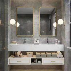1200/1400/1600/1800 غرفة مخصصة في فندق MDF Wood Hotel Modern Wall الحمام Vanity