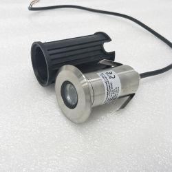2 Jahre der Garantie-vertiefte 3 Watt-Tiefbaubeleuchtung-im Freien LED Jobstepp-Minilicht-