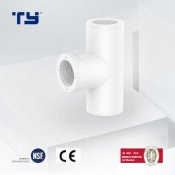 إمداد المياه المعتمد من جهة التصنيع UPVC/PVC/البلاستيك/تركيب أنبوب الضغط Tee Sch40 PVC الأنبوب