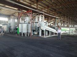 30tpd resíduos contínua fábrica de pirólise dos pneus com 0,3% de teor de óleo negro de carbono