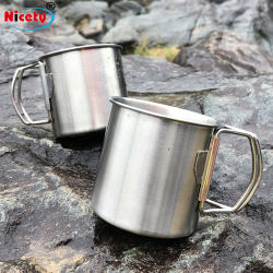 [موونتينيرينغ] يخيّم [ستينلسّ ستيل] فم فنجان سفر خارجيّة ماء فنجان مع مقبض