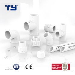 توصيل ASTM D2466 بلاستيك قياسي (PVC / CPVC / PPR) تركيبة الأنبوب لإمداد المياه Sch40