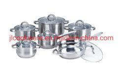 12 pcs Gros Ventre de la forme des ustensiles de cuisine en acier inoxydable fixée pour la maison