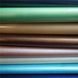 EMI PU Rexine Manufacturecustom Cuero Cuero de PU para zapatos de cuero sintético de la línea de producción