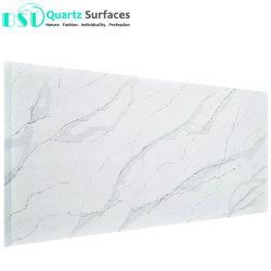 7.5 mm de espesor del panel de piedra de cuarzo veteado en paredes de ducha