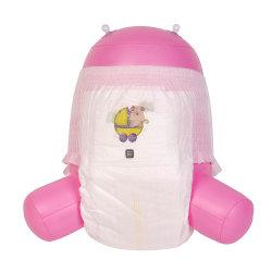 Низкая цена одноразовые высококачественное сырье для малыша брюки Diaper