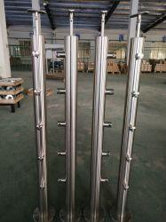 De Balustrade/de Leuning/het Traliewerk met de Klem van het Glas voor Balkon/de Treden van het Glas van het Roestvrij staal van de fabrikant/Trap van de Fabriek van China