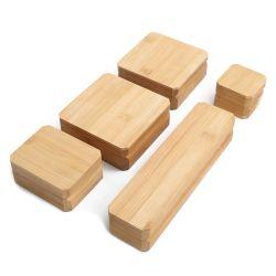 De nouveaux gros personnalisés en bois massif coffret à bijoux en bois de bambou, bague collier de perles Bracelets Bijoux boîtes d'emballage