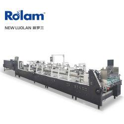 Folder Gluer Maschine Papier Produktmaschinen in China Automatisches Papier Food Cake Pizza 4 6 Ecken Box Tasche Teller Deckel Stroh Cup Folder Gluer / Papier Produkte