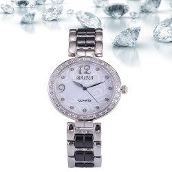 Baijia cara Perla cerámica Diamante señoras reloj de cuarzo