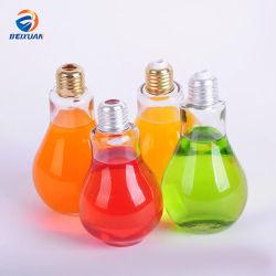800 ml de suco de PET do vaso da lâmpada da luz do vaso de plástico com luzes LED