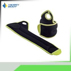 El tobillo y ajustable al por mayor peso de la muñeca de neopreno de sacos de arena de Fitness