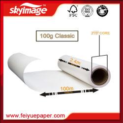 Premium Papier Transfert par sublimation à séchage rapide 100gsm pour l'impression numérique