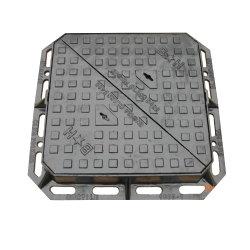 Quadratisches doppeltes Hochleistungsdreieck-duktiler Eisen-Einsteigeloch-Deckel mit Rahmen