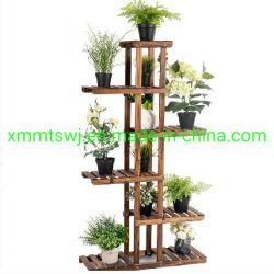 6 Niveau 11 pots de fleur en bois de support d'affichage