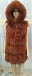 Nouvelle conception de la fourrure de renard Waistcost authentique avec fourrure d'agneau