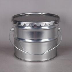De in het groot 8L Duurzame Draagbare Emmers van het Tin van het Metaal met Deksel