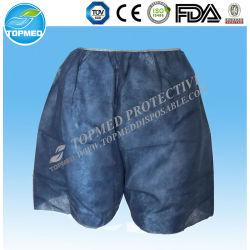 Le bleu médical de boxeur non-tissé remplaçable halète des sous-vêtements d'hommes avec l'élastique