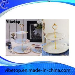 2 تيرز المعدن كعكة / حامل الفاكهة Cupcake لوحة حامل تزيين الطرف