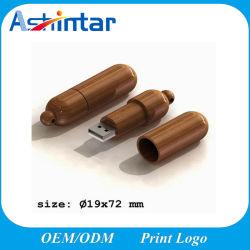 Le bois d'impression du logo disque Flash USB USB3.0 Lecteur Flash USB 2.0/