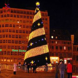 Esterno impermeabilizzare il PVC artificiale 60FT di 20FT 30FT 40FT 50FT che illumina il grande albero di Natale della decorazione di natale di alta qualità del LED