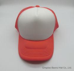 Оранжевый сетка Trucker из пеноматериала белого цвета бейсбольные колпачки для лета